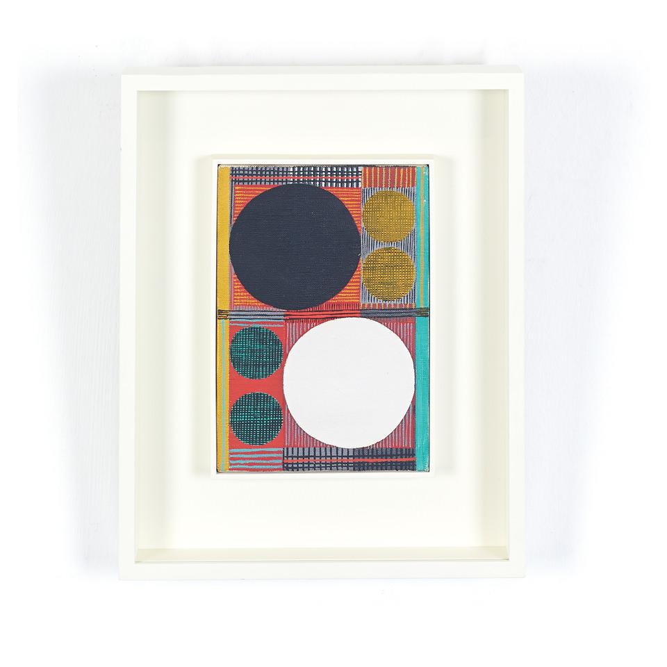 新加坡Kato Art Duo畫廊帶來加藤一的幾何抽象油畫【Beta Black & White】