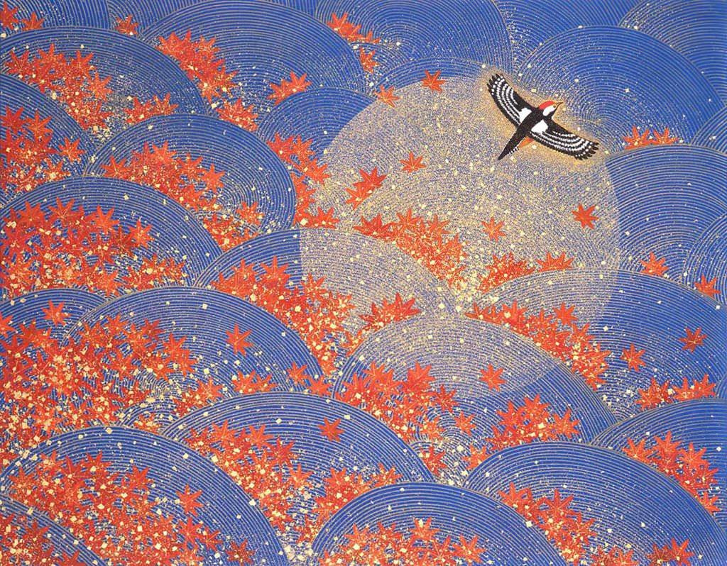石踊達哉 楓河 膠彩畫 50 號 2007 (安如畫廊)%2FIshiodori Tatsuya Maple River Glue Color Painting 2007(JONATHAN & ARCHER GALLERY)