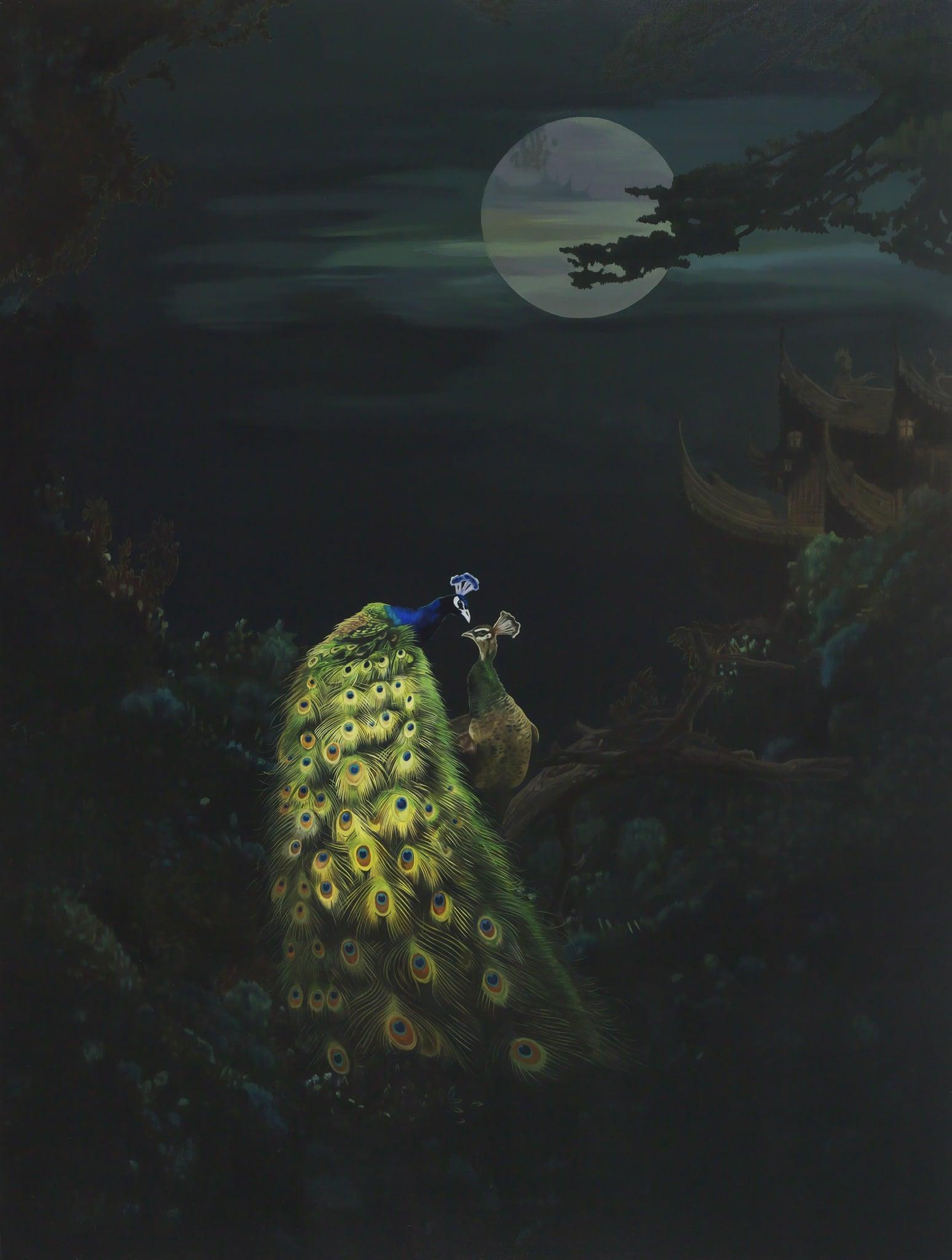 萬太豐 浮生之鳳求凰‧3 油畫畫布 200x150cm │2014 (傳承藝術中心) %2F Tai-Feng WAN Life Like a Dream‧Love Affair‧3 Oil on Canvas 200x150cm │2014 (CHUAN CHENG ART CENTER)