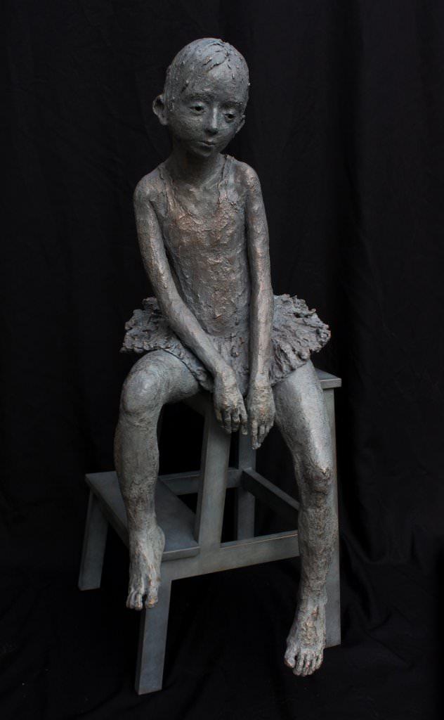 Jurga MARTIN 尤爾嘉 舞者_Danseuse triste 青銅 Bronze │ H97 W43 D42 │ 2015